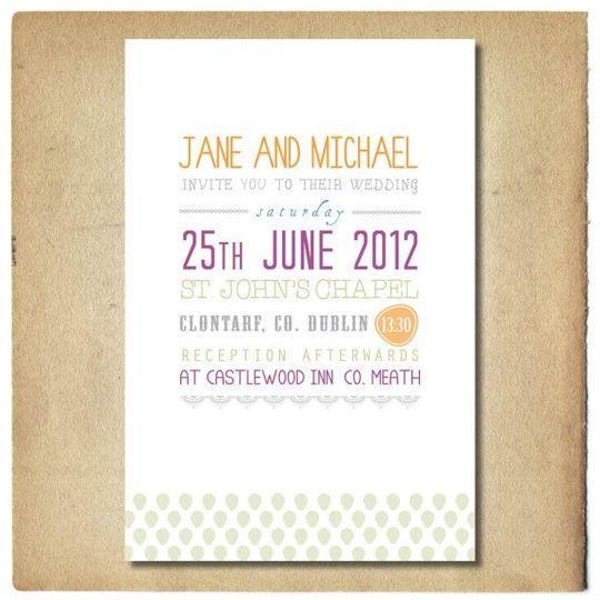 Graphic Text Design Wedding Invitations