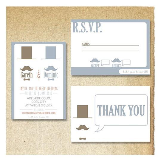 Mr & Mr Gentlemen Invitations