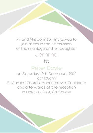 Cool Pastels Wedding Invitation (Back)