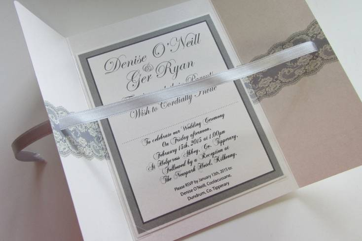 On Silver Pond Wedding Stationery