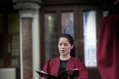 Eileen Coyle singing